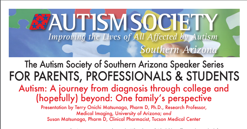 Autism Society of Southern Arizona Speaker Series