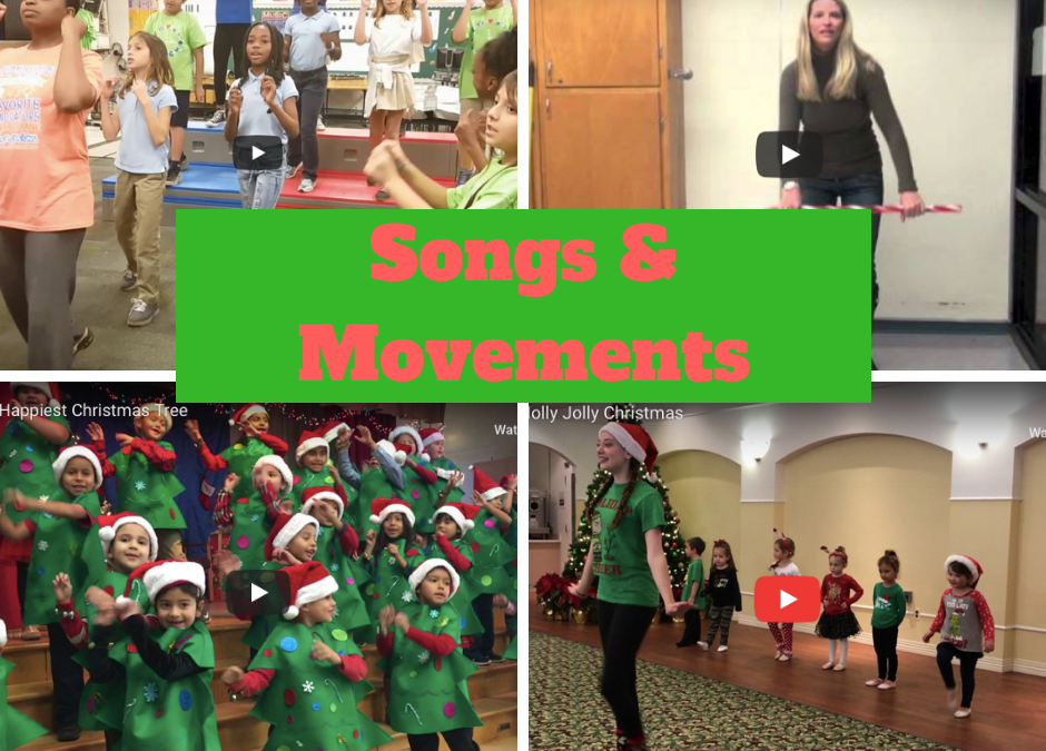 7 Awesome Christmas Songs with Movements for Kids